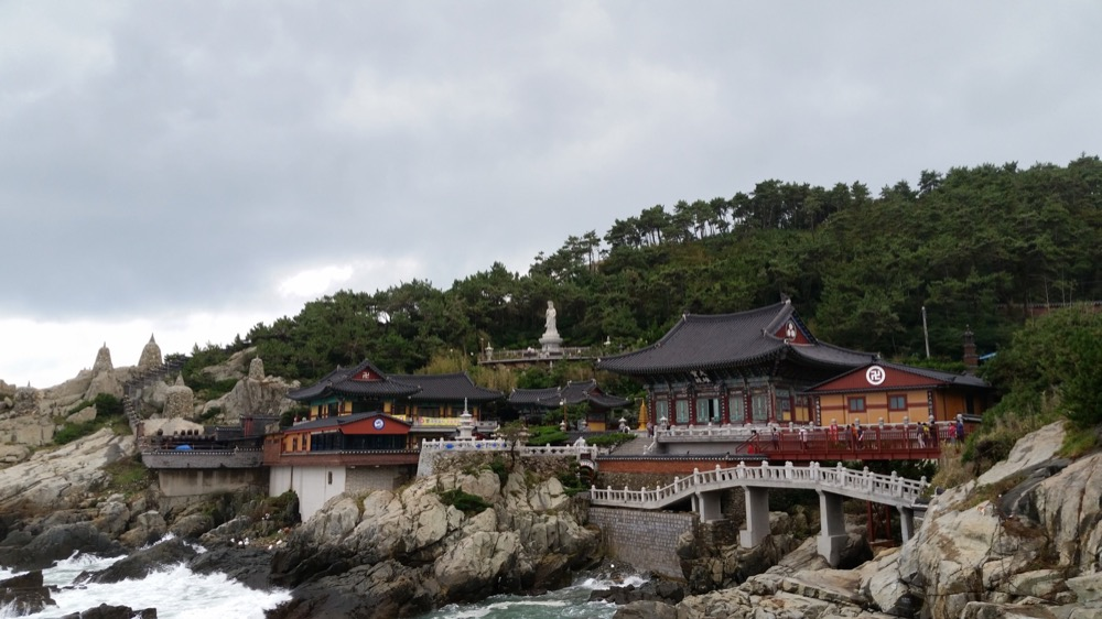 Haedong Yonggungsa Temple, beautifully situated on Korea's southern coast