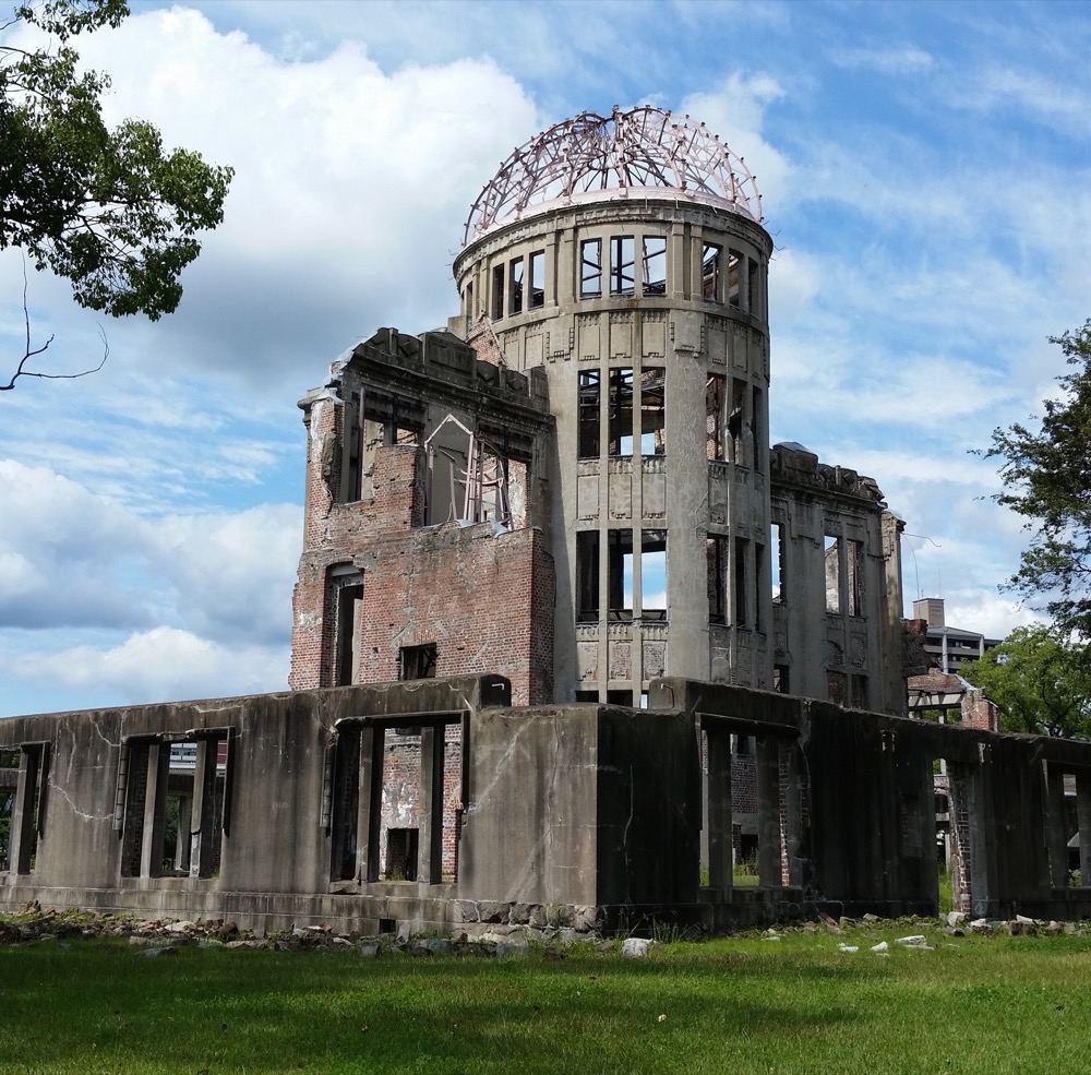 One of the few remaining structures in Hiroshima from before the a-bomb dropped, the so-called 'Atomic Dome' is a stark reminder of the traumatising event