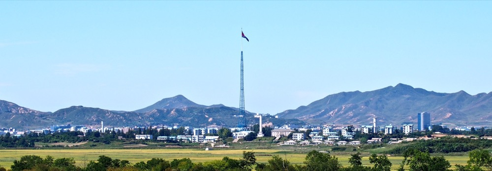 Gijeongdong, a DPRK village in the Northern half of the DMZ, is home to the fourth-largest flags in the world atop a 160m-tall flagpole