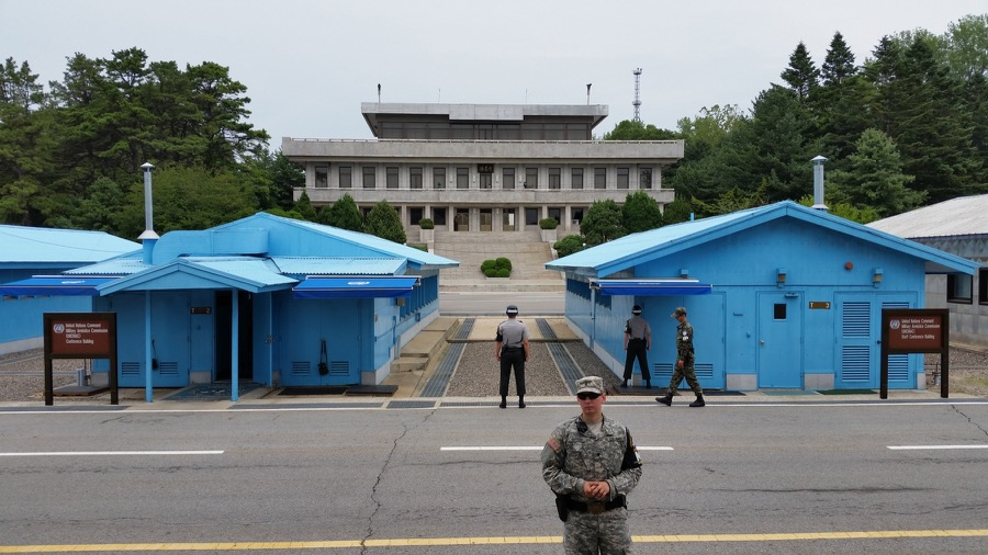 A not-so-rare glimpse into the secretive North Korea; the DMZ's Joint Security Area at Panmunjom